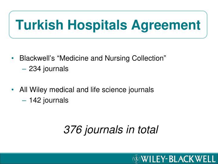 Turkish Hospitals Agreement