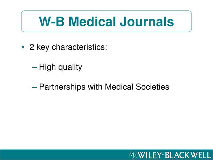 W-B Medical Journals