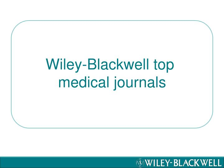 Wiley-Blackwell top
