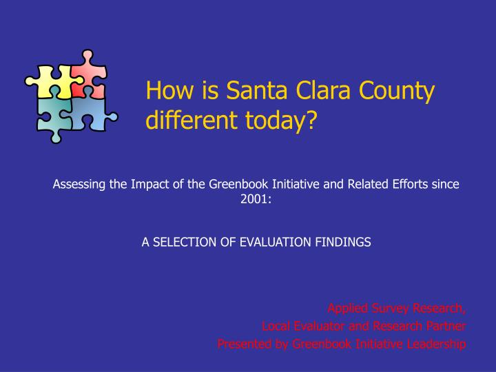 How is santa clara county different today