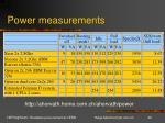 power measurements1