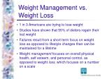 weight management vs weight loss
