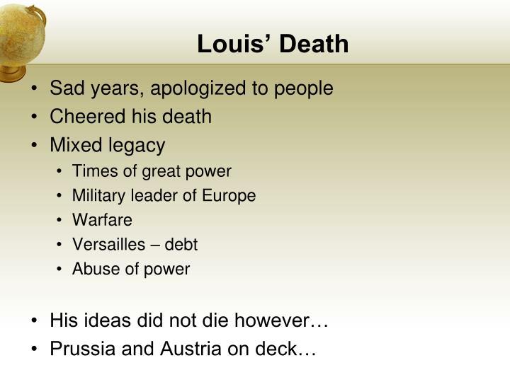 Louis' Death