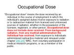 occupational dose