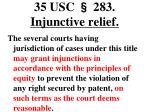 35 usc 283 injunctive relief