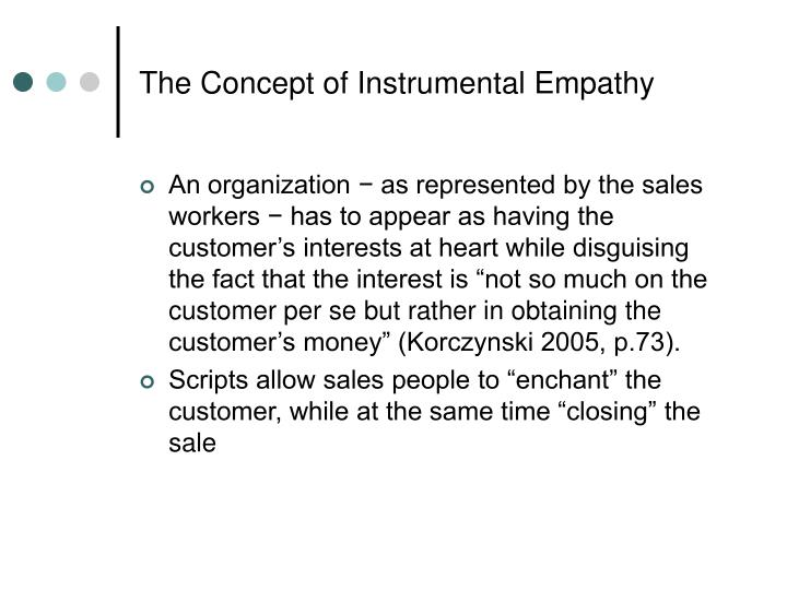 The Concept of Instrumental Empathy