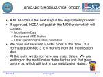 brigade s mobilization order