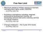 five year limit