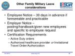 other family military leave considerations