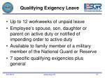 qualifying exigency leave
