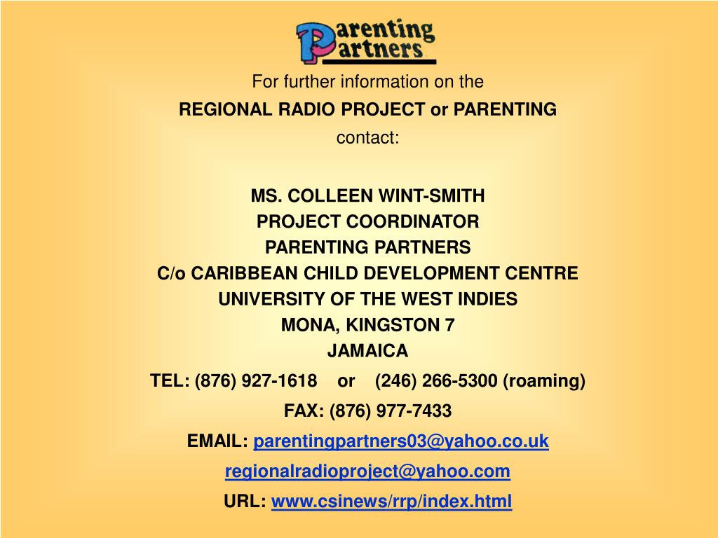 PPT - COMMUNITY RADIO & MULTIMEDIA PROJECTS IN THE CARIBBEAN