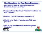 key questions for your farm business