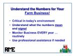 understand the numbers for your farm business