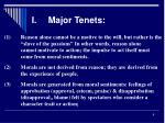 i major tenets