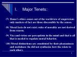 i major tenets2