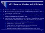 viii hume on altruism and selfishness