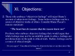 xi objections