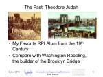 the past theodore judah