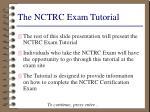 the nctrc exam tutorial