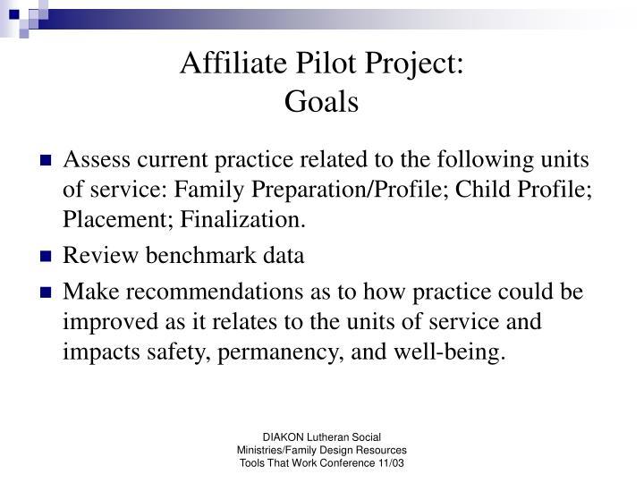 Affiliate Pilot Project: