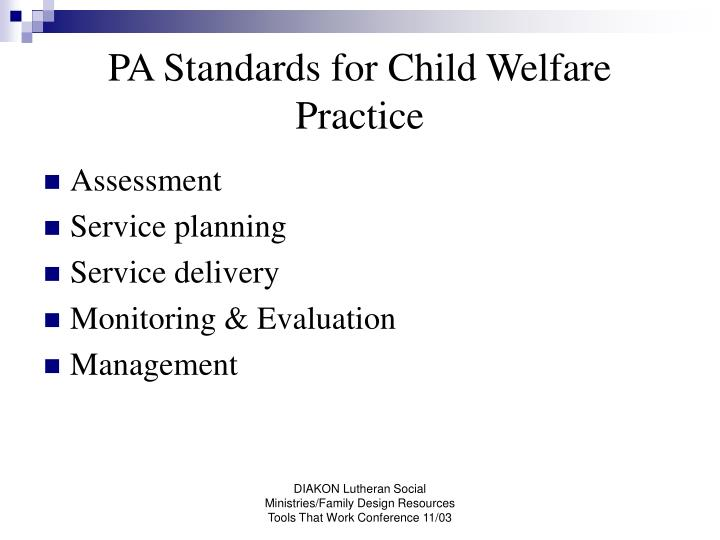 PA Standards for Child Welfare Practice