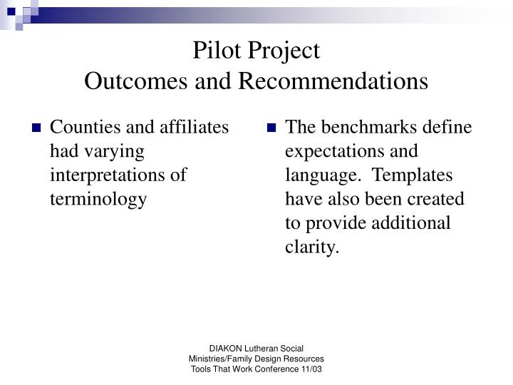 Counties and affiliates had varying interpretations of terminology