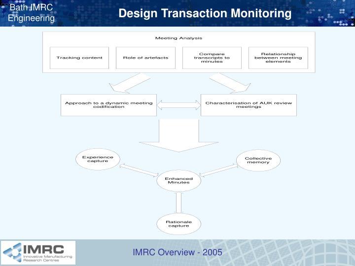 Design Transaction Monitoring