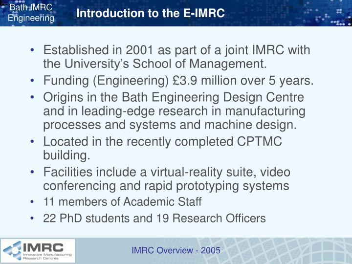 Introduction to the e imrc