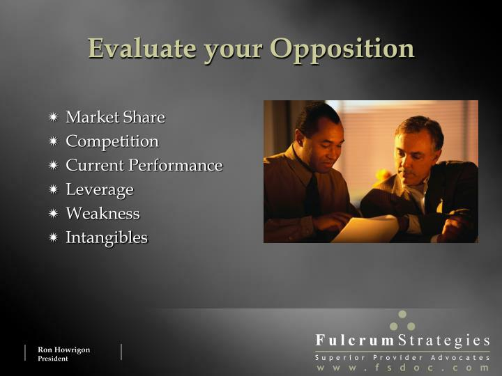 Evaluate your Opposition