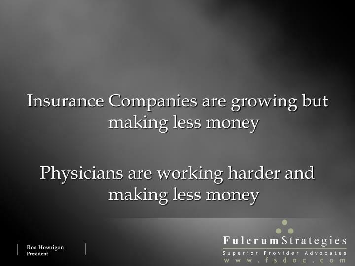Insurance Companies are growing but making less money