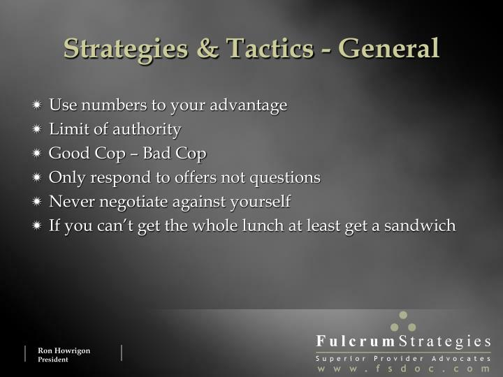 Strategies & Tactics - General