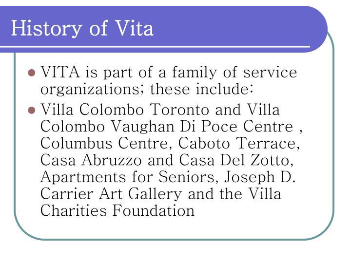 History of Vita