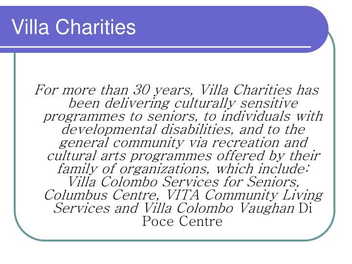 Villa charities