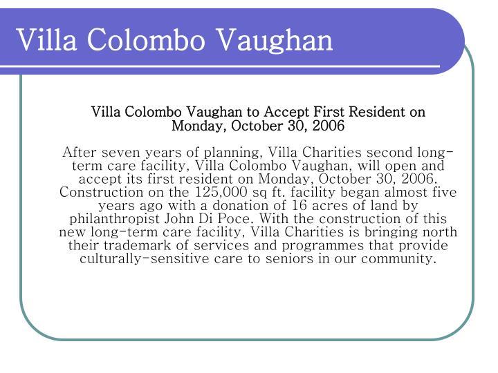 Villa Colombo Vaughan