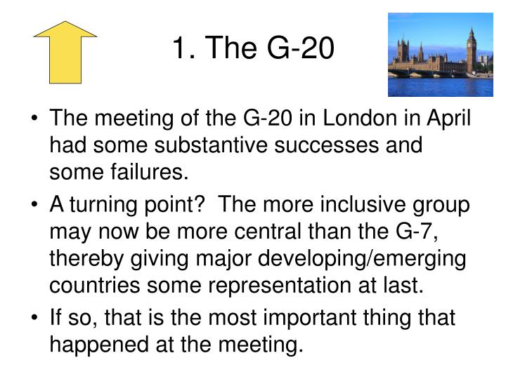1. The G-20