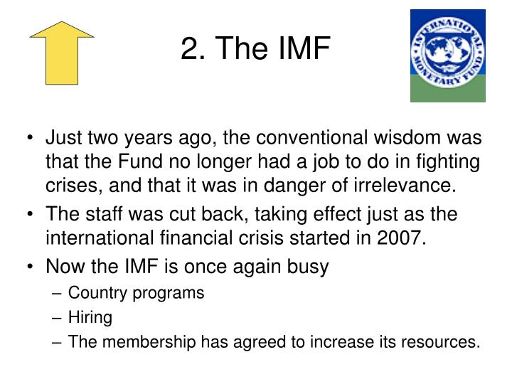 2. The IMF