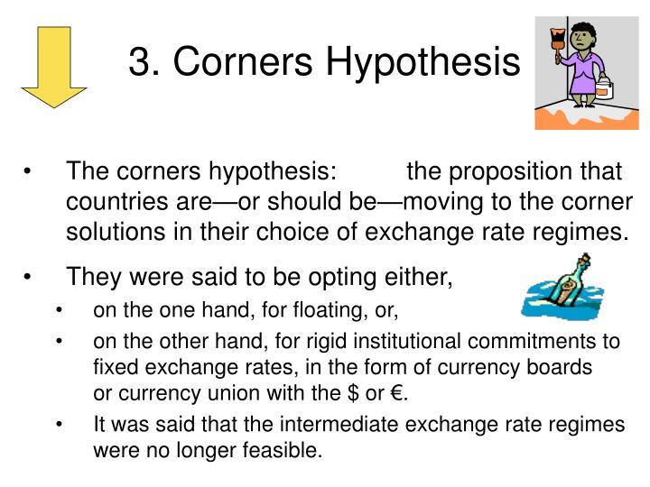 3. Corners Hypothesis