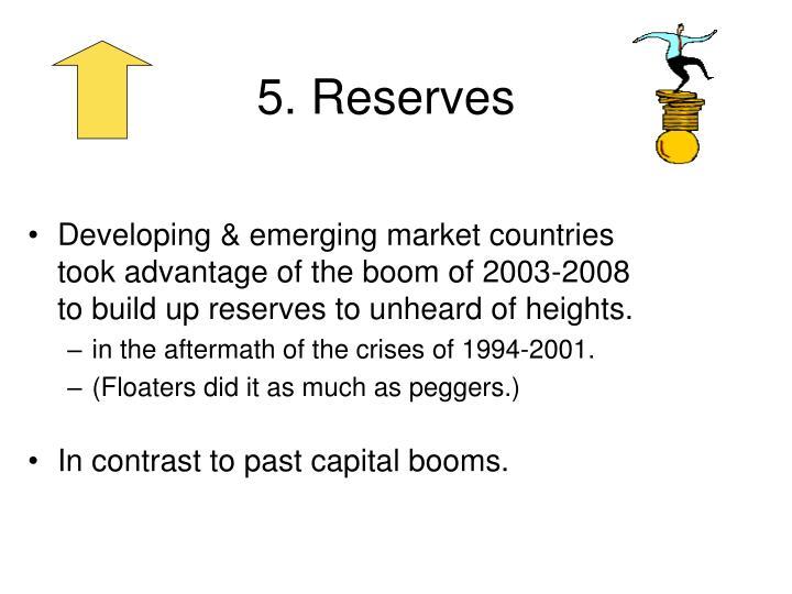 5. Reserves