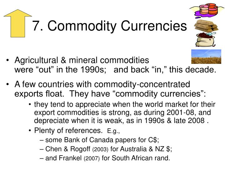 7. Commodity Currencies