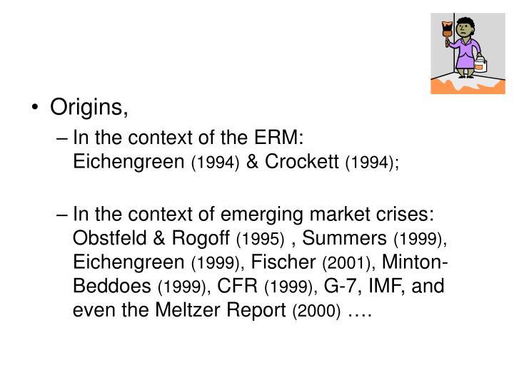 Origins,