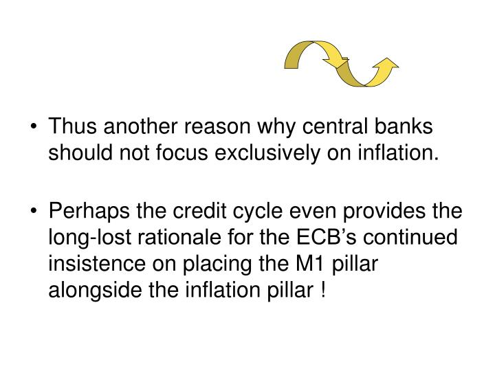 Thus another reason why central banks should not focus exclusively on inflation.