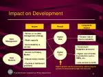 impact on development