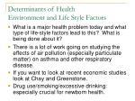 determinants of health environment and life style factors3