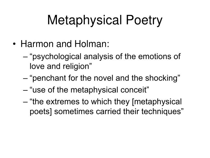 what is metaphysical conceit