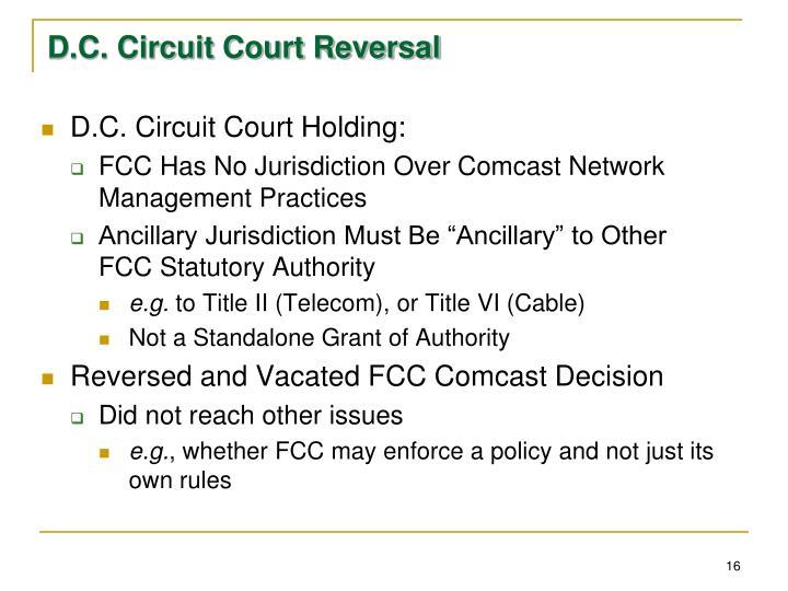 D.C. Circuit Court Reversal