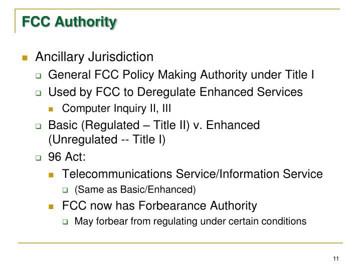 FCC Authority