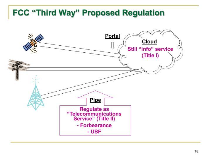 "FCC ""Third Way"" Proposed Regulation"