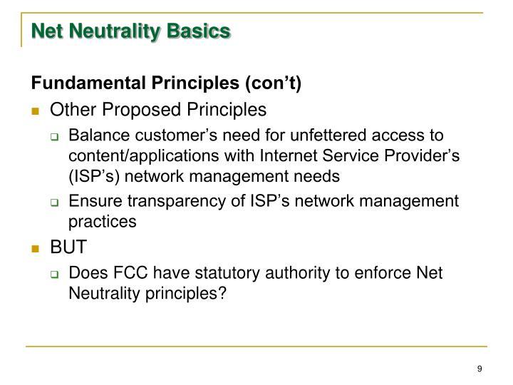 Net Neutrality Basics