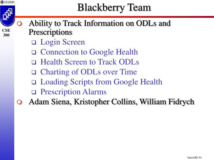 Blackberry Team