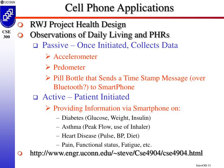 Cell Phone Applications